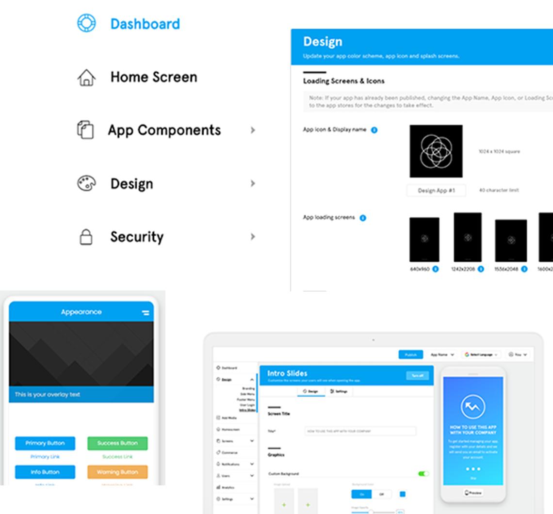 Dashboard of Application