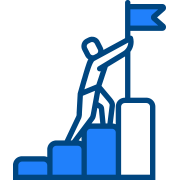 Icon of a climbing man for stairs