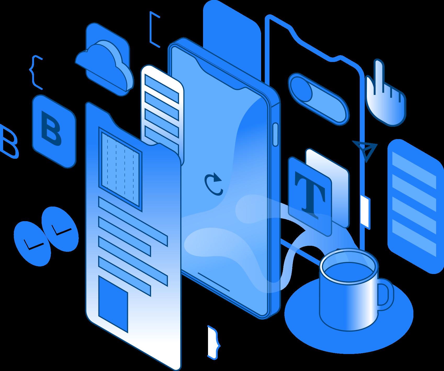 Illustration platform Buildfire Process
