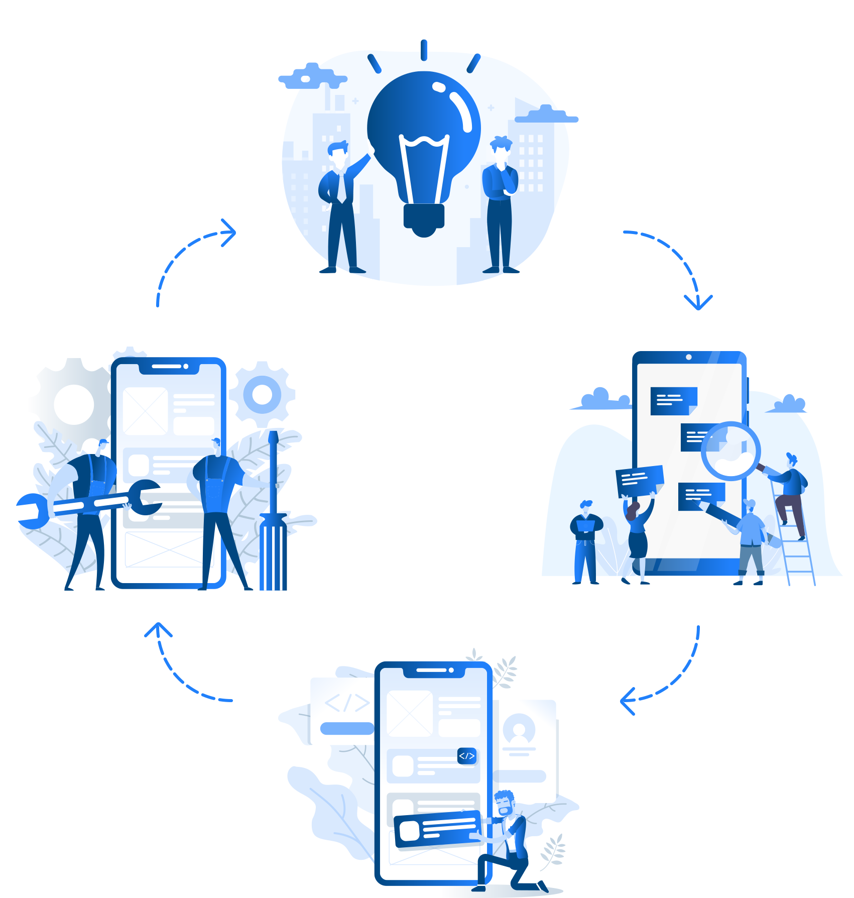 App ideas illustration
