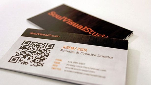 QR codes on personal cards