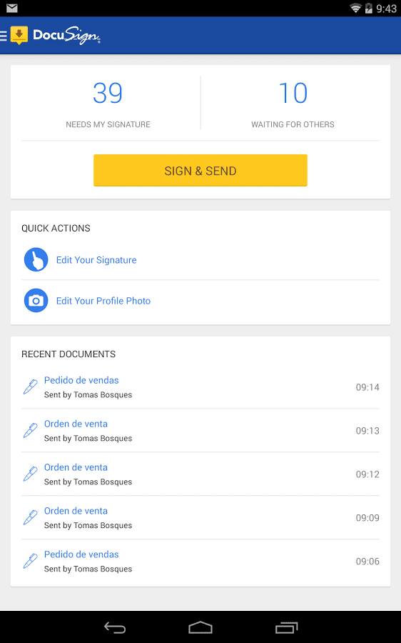 Docusign mobile app builder