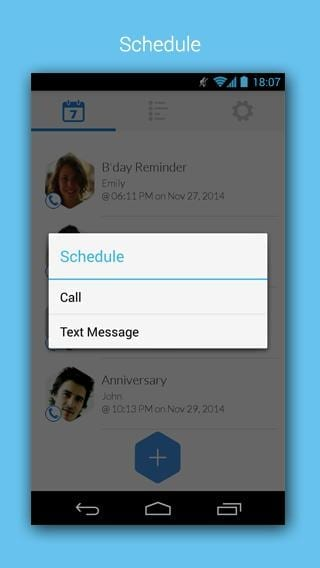 Free Call & SMS Scheduler mobile app builder