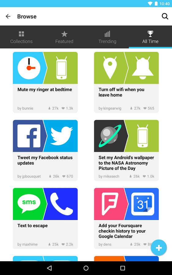 IFTTT mobile app builder