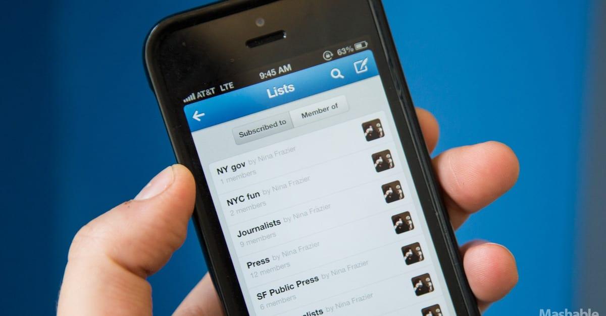 Organize Your Lists - Mashable mobile app builder
