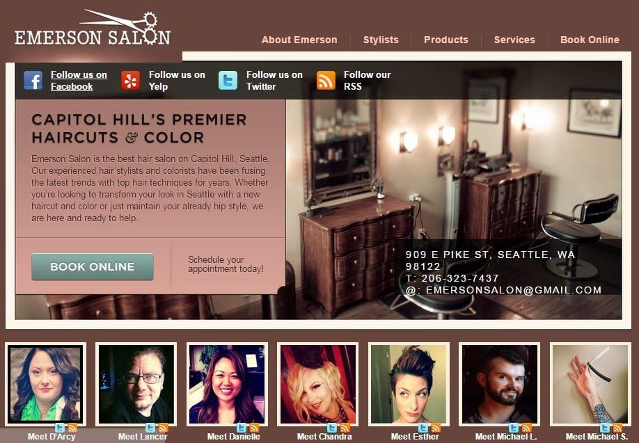 Emerson Salon mobile app builder