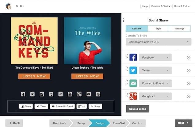 social share buttons mobile app builder