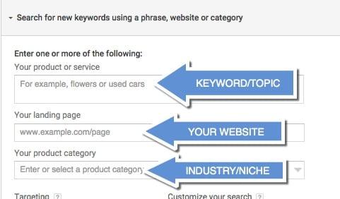 find new keywords mobile app builder