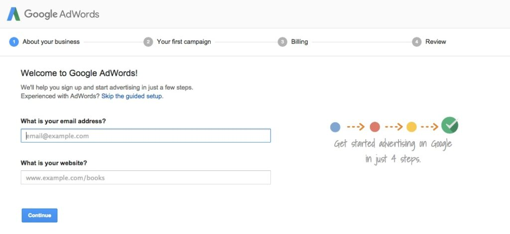 google adwords create account 1 mobile app builder