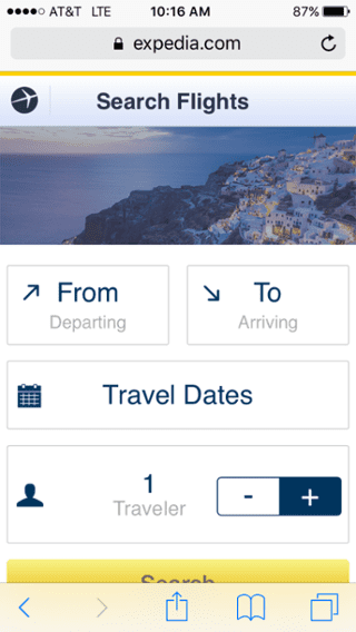 Expedia_Mobile_Site mobile app builder
