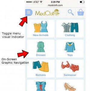 Modcloth-visual-navigation-with-callouts-298x300 mobile app builder