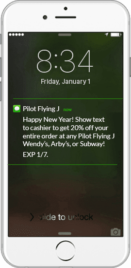 Text-Message-Coupon-Example-Pilot-Flying-J mobile app builder