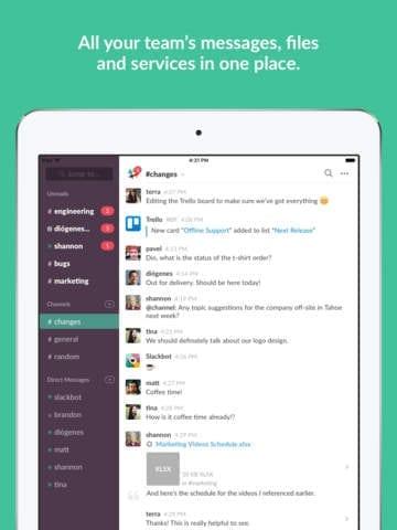 slack mobile app builder