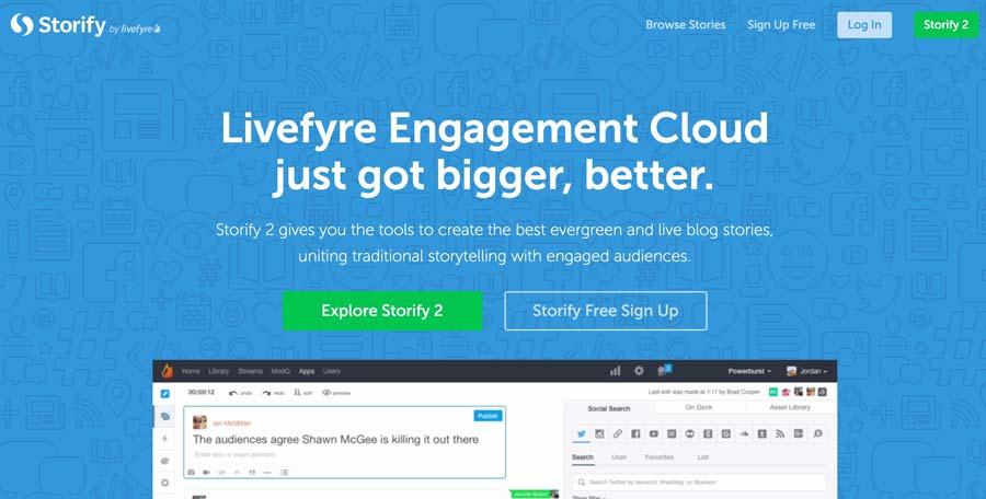 storify mobile app builder