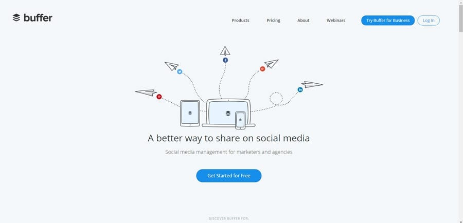 Buffer has an easy to use interface mobile app builder