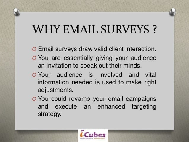 Why Email surveys