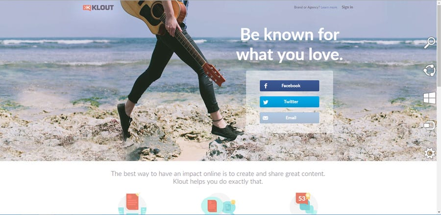 Klout helps track online impact mobile app builder