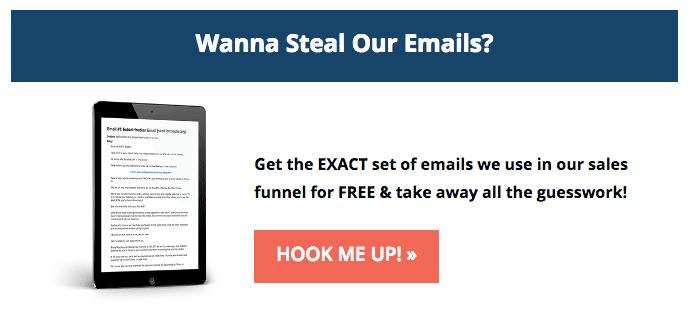 steal emails mobile app builder