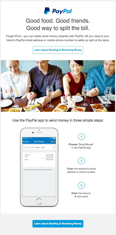 PayPal Split the Check mobile app builder