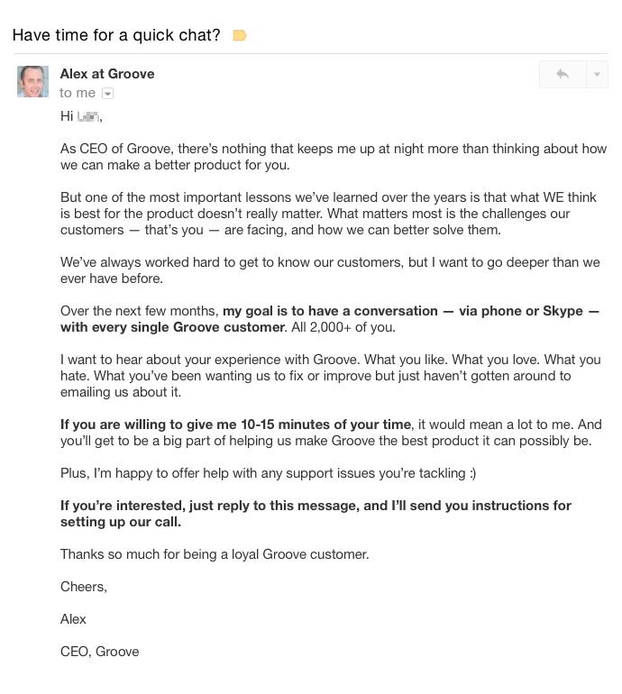asking for feedback mobile app builder