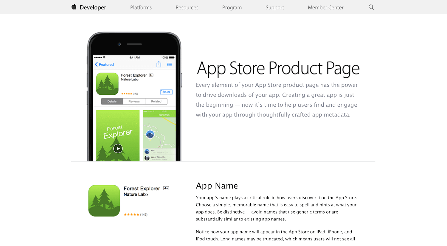 Apple Store Product Page mobile app builder