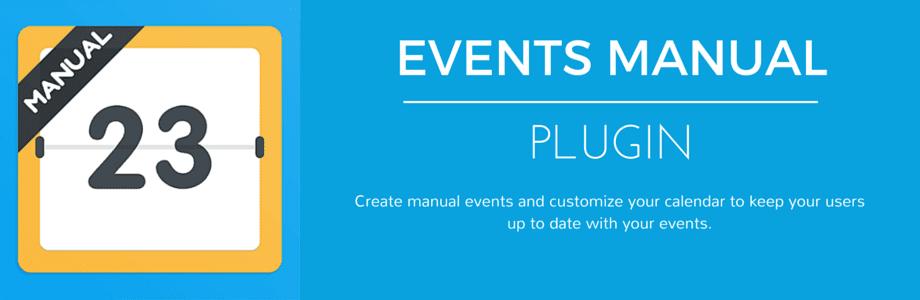 Events Manual Plugin mobile app builder