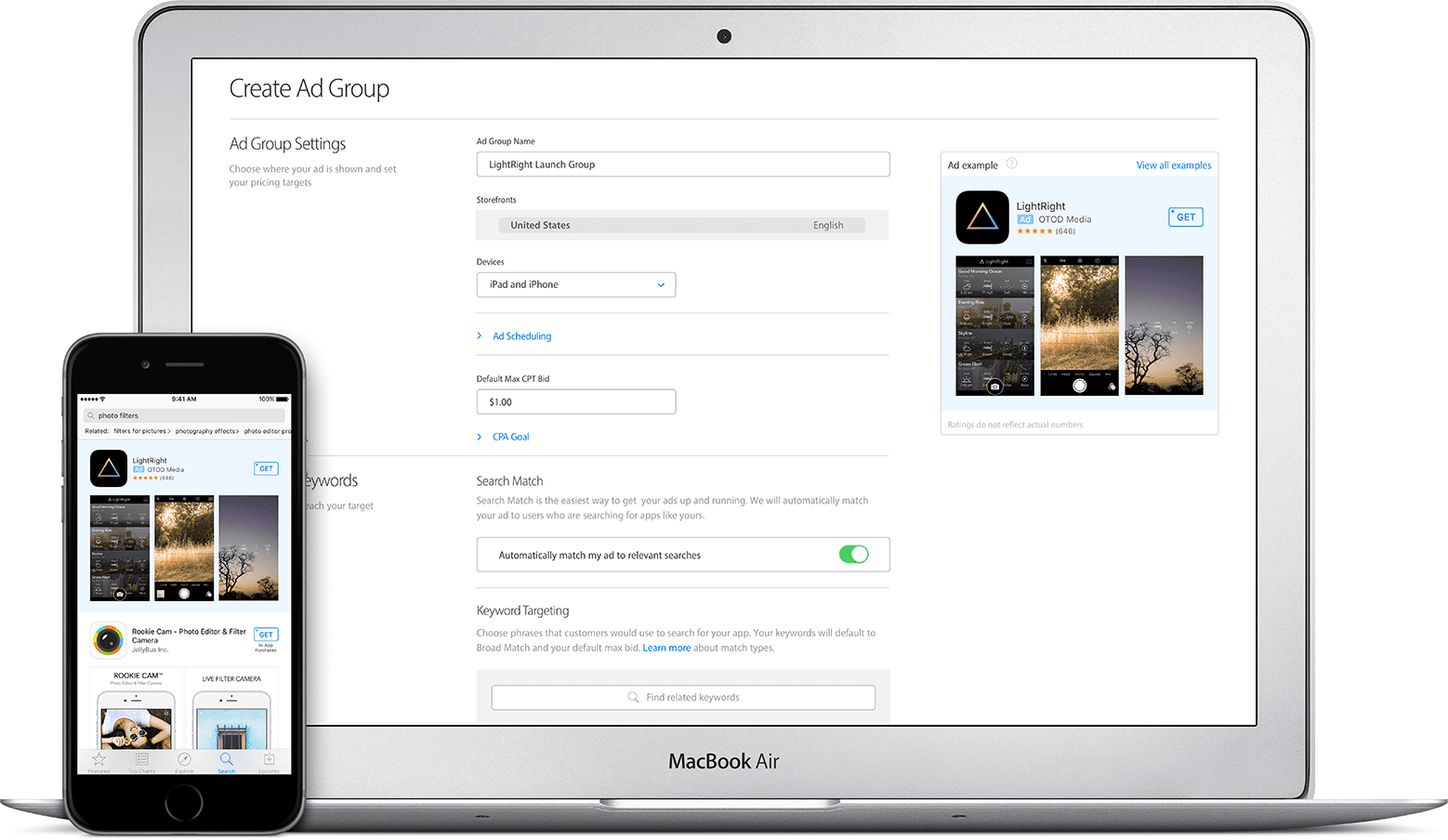 Search Ads Apple App Store Creation