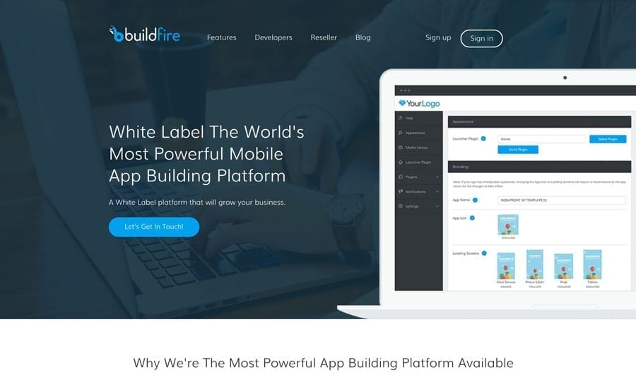 bf-wl mobile app builder