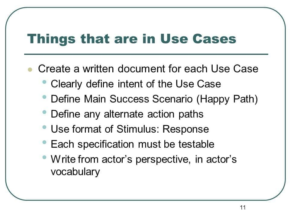 Define use cases