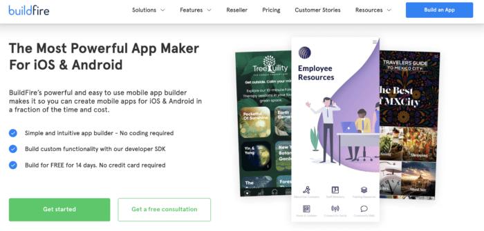 BuildFire app maker