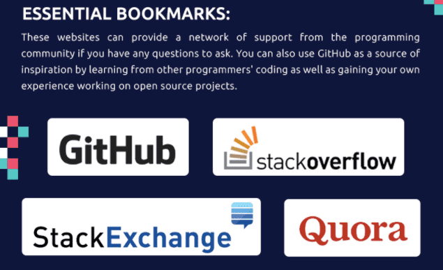 Bookmark important resources