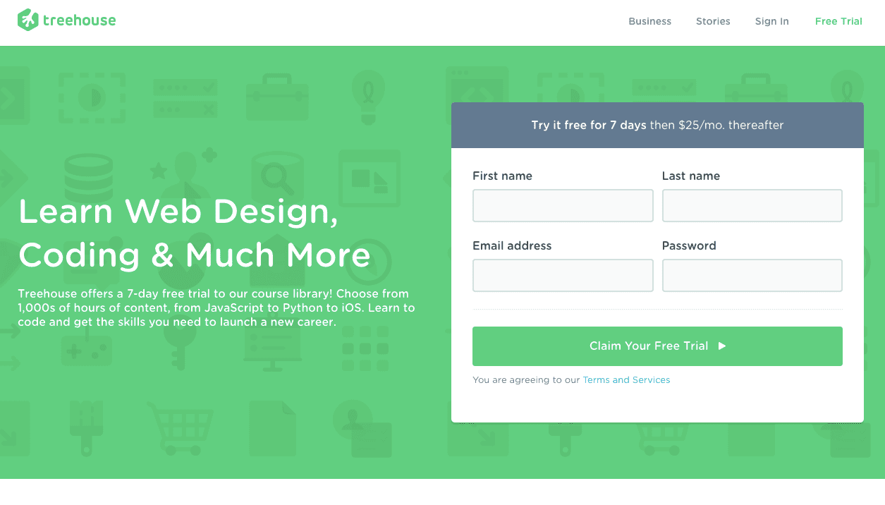 Start Learning at Treehouse for Free