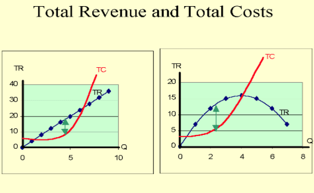 Total revenue and Total Costs