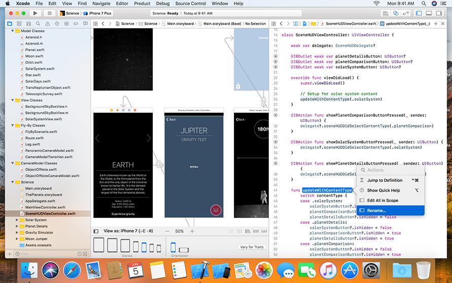 xcode screen example