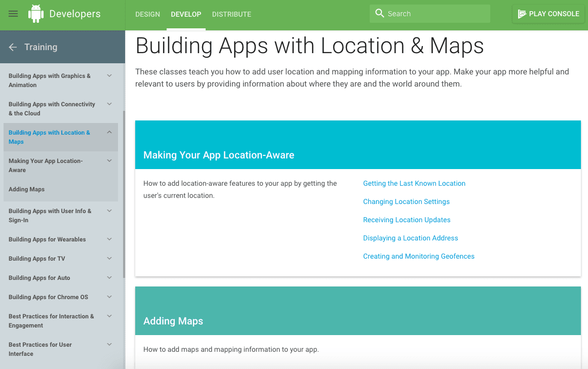 mapping apps