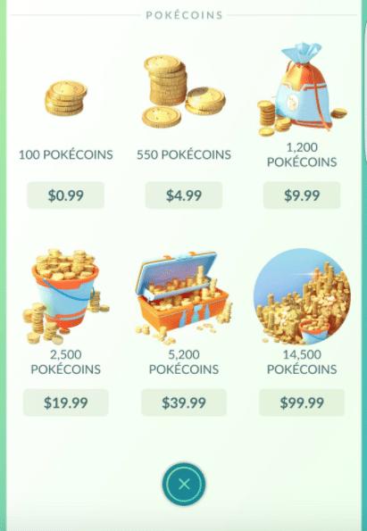 pokemon go in app purchase