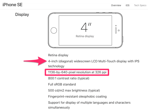 iphone se 2 screen size