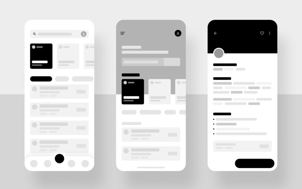 building an app wireframe